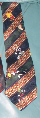 YOSEMITE SAM Marvin Sylvester The Martian Loony Tunes Tie