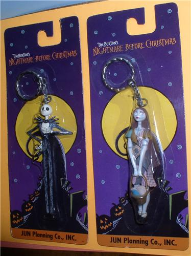 Nightmare Before Christmas Jack and Sally Japan Jun Planning 2 Key Chains