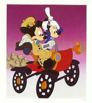 Disney Mickey & Minnie Lithograph Limited Edition