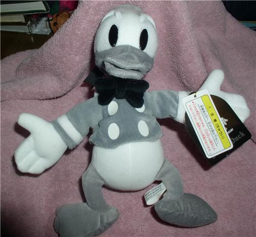 Disneyland Tokyo Japan Donald Duck Sailor Black and White Doll