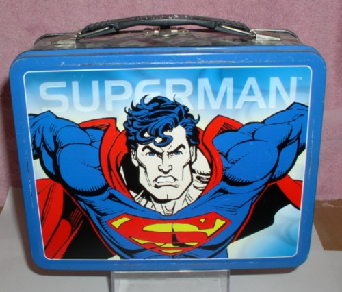D.C. comics Superman Lunch Box metal Lunch Box