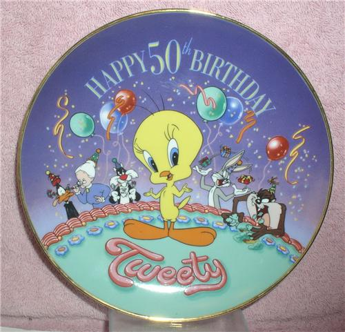 Looney Tunes Happy 50th Birthday Tweety Plate