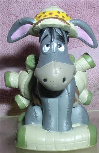 Disney Eeyore with back pack Winnie The Pooh Safari cake topper PVC