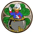 Disney Scrooge McDuck counting his gold Mystery LE 900 pinpins