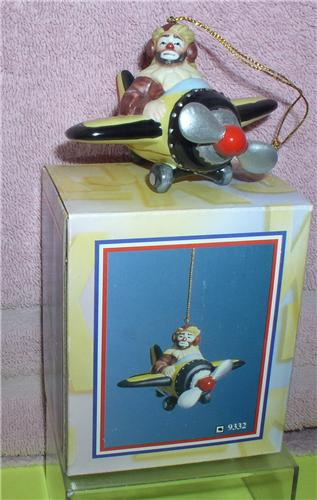 Emmett Kelly Jr. Airplane Pilot circus clown ornament