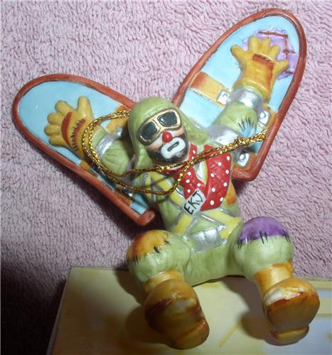 Emmett Kelly Jr. flying circus clown ornament