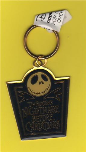 Disney Tim Burton Nightmare Before Christmas metal key chain Applause