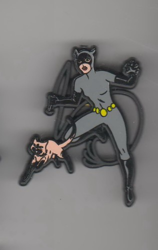 Batman Villain Catwoman Cat woman made In England UK European pinpins