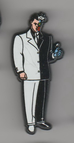 Batman Villain Two-Face made In England UK European pinpins