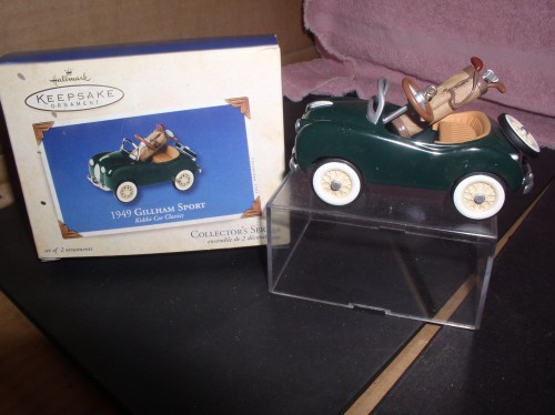 1948 Gillham Sport Golf clubs Kiddie Car Classics Hallmark Keepsake ornament