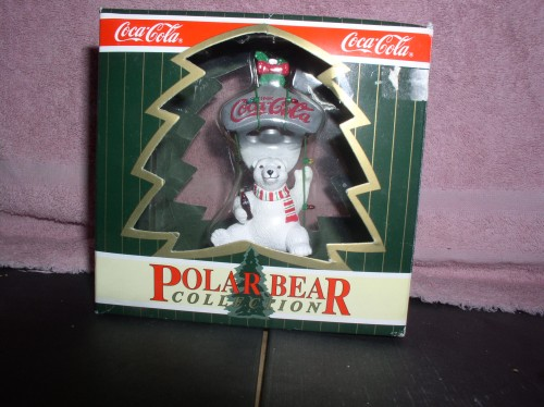 Coca-Cola Polar Bear Collection ornament Mint original Box