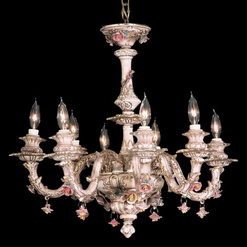 Capodimonte Chandelier Brown & Gold 8 Lights New Italy GA-2078 SC