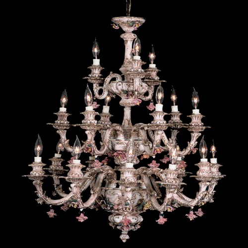 Capodimonte Chandelier Brown & Gold 18 Lights New Italy GA-26 SC