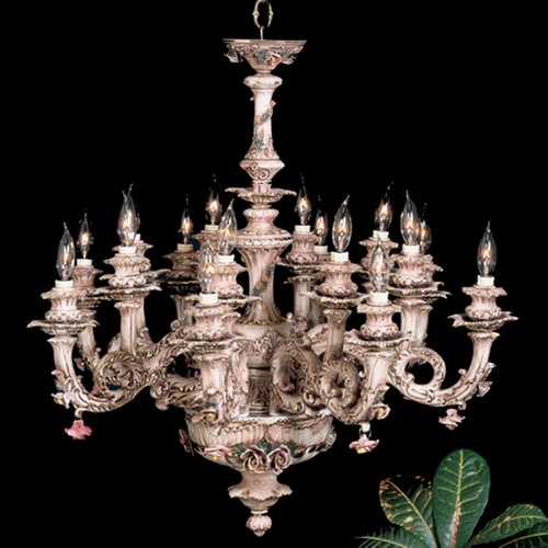 Capodimonte Chandelier 16 LIGHT Brown & Gold new Italy GA-20916 SC