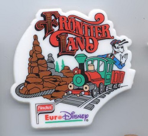 Disney Goofy Engineer Frontier Land Euro Disney Magnet
