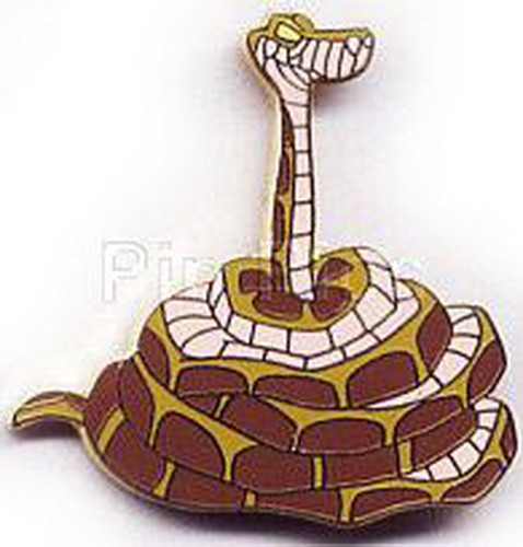 Disney Kaa snake from Jungle Book full body Coiled head up pinpins