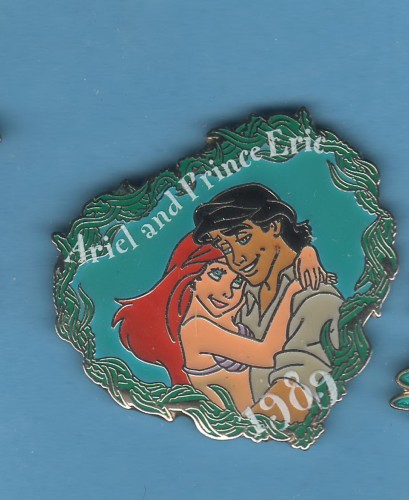 Disney Ariel and Prince Eric Little Mermaid dated 1989 pinpins