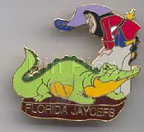 Disney Captain Hook - and TicToc Peter Pan Florida Jaycees pinpin