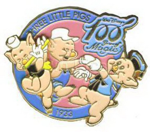 The 3 Little Pigs Japan authentic Disney 100 Years of Magic pinpins