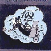 Plane Crazy Mickey Ariplane Pilot Japan authentic Disney 100 Years pinpins