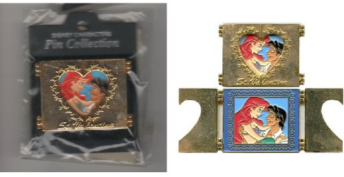 Ariel and Eric Little Mermaid Japan authentic Disney pinpins