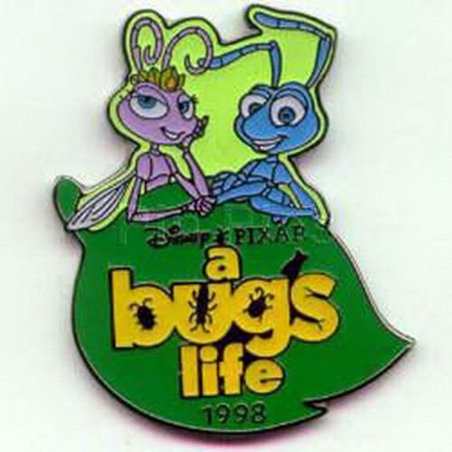 Disney Atta and Flik dated 1998 on Leaf Disney A Bug's Life authentic pinpins