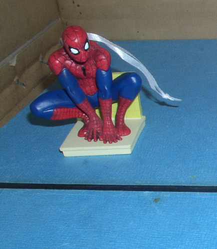 Spiderman Spider Spiderman full body squatting down Ornament