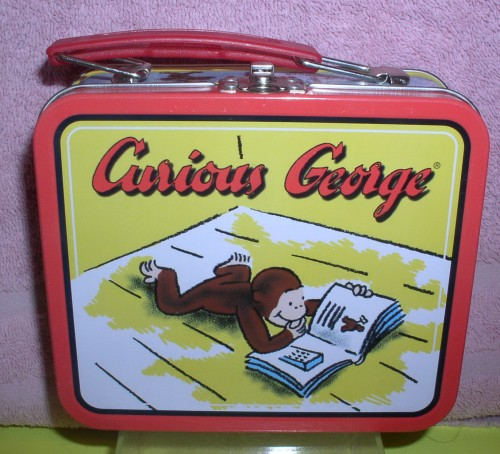 Curious George metal lunch box Lunchbox Universal Studios