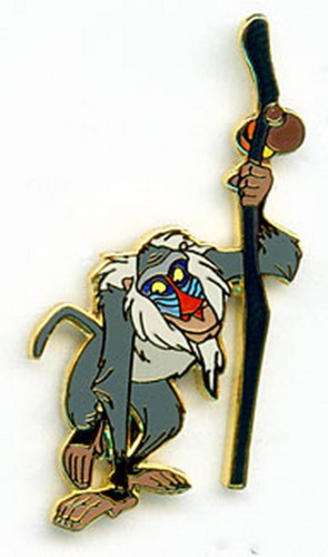Rafiki holding medicine stick from Lion King Authentic WDW Disney pinpins