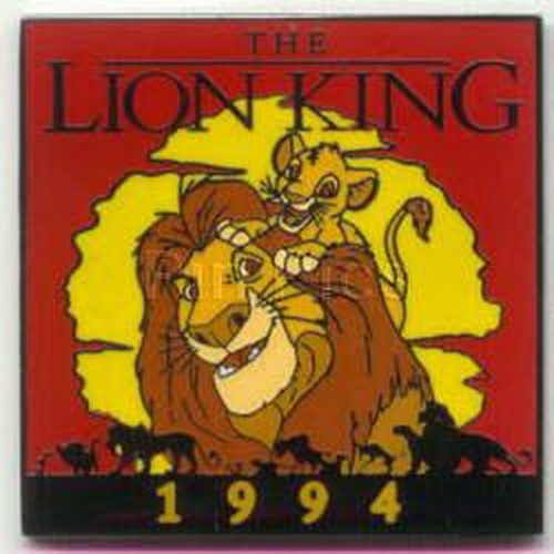 Mufasa and Simba pals The Lion King dated 1994 Authentic Disney pinpins