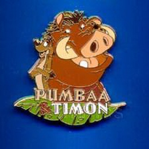 Pumbaa and Timon Authentic Lion King Disney pinpins