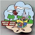 Lion King Pumbaa floating Wild about Safety authentic Disney Cast never sold pin