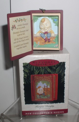 Humpty Dumpty Mother Goose 1st in series story book Hallmark 1993 ornament
