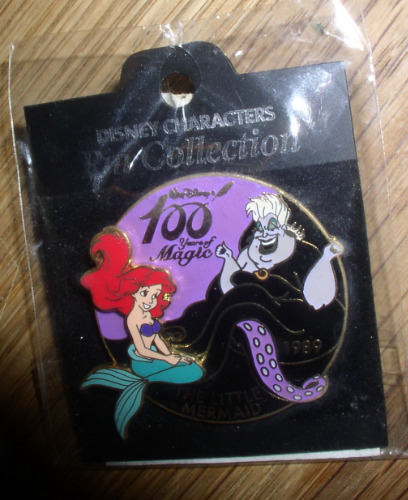 Ariel & Ursula Authentic LE Disney Little Mermaid Japan Pin on card