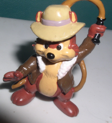Chip as Indiana Jones from Disney Chip N Dale 2 inches tall PVC Figurine cake topper