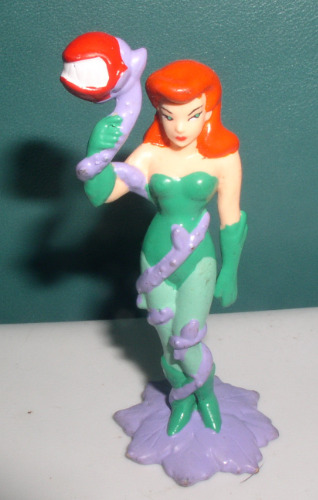 Poison Ivy Girl Villain from Batman 3 inches tall PVC Figurine cake topper