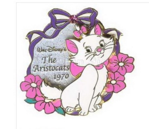 Aristocats Marie 1970 History of Art 3D Japan Authentic on card Disney Pin