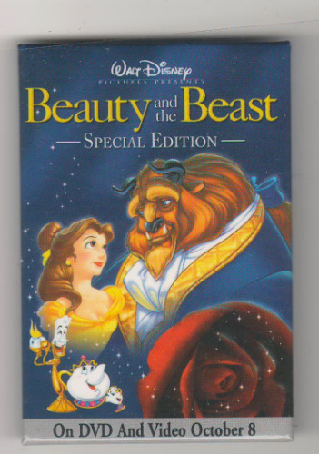 Beauty and the Beast Lumiere, Mrs. Potts, Chip- Special Edition button pin