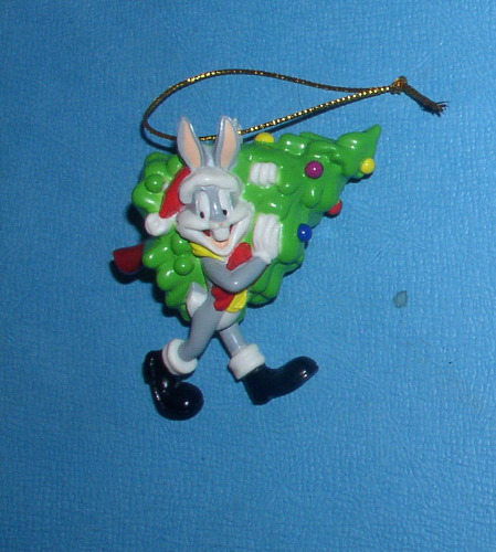 Bugs Bunny carrying Christmas Tree Looney Tunes Ornament