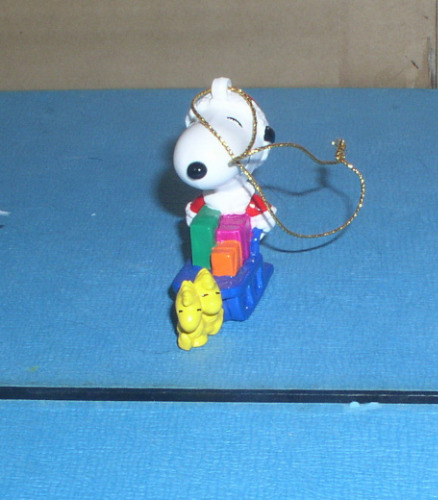 Peanuts Snoopy dog full body with Woodstock Ornament