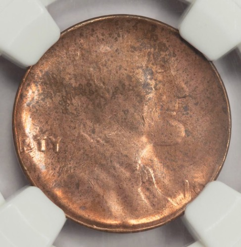 NGC MS63 Obverse CounterBrockage Lincoln Cent Mint Error Rare Type Error