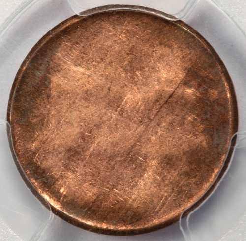 1962 D PCGS AU58 100% Uniface Strike Lincoln Cent Mint Error Extremely Rare  Type