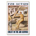 R000037-12 WWI Propaganda Poster Enlist in Air Service For Action Steel Metal Vintage Image Wall Dec