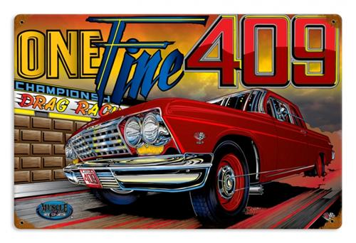 Automotive Tin Signs : Muscle car one fine automobile tin metal sign