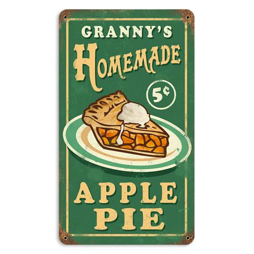 Granny 39 s homemade apple pie tin metal sign reproduction for Plaque metal cuisine