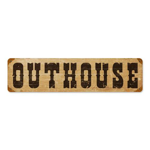 Outhouse Tin Metal Sign Reproduction American Yesteryear
