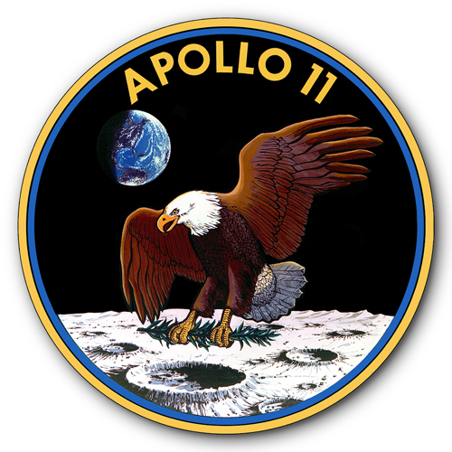 AYY024-Apollo-11-Eagle-Landing-Insignia-NASA-Space-Moon-tin-metal-sign