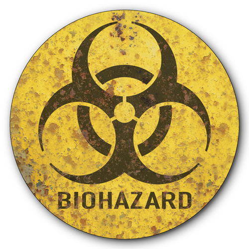 AYY029-Biohazard-Warning-Biological-Hazard-Symbol-Rust-FX-tin-metal-sign