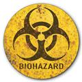 Biohazard Warning Biological Hazard Symbol Rust FX Tin Metal Sign :: 14 inch diameter
