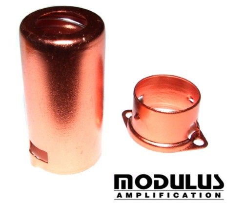ALUMINIUM PRE AMP VALVE SHIELD-RED ANODISED